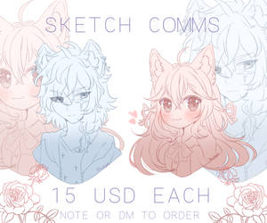 Sketch Commissions-4 Slots-OPEN by Alukoe