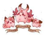 Cleffa Clefairy and Clefable