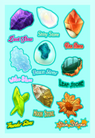 Pokemon Evolution Stones Redesign by TentacleWaitress