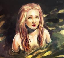 mermaid girl by cactusrain