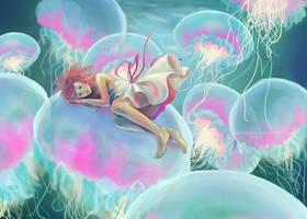 jellyfish girl by cactusrain