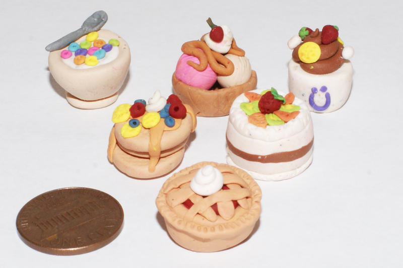 polymer clay desserts by cactusrain on deviantart