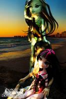 Gloom Beach Sunset by KittRen