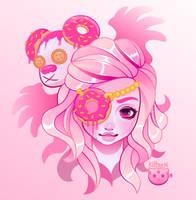 Donut Girl by KittRen