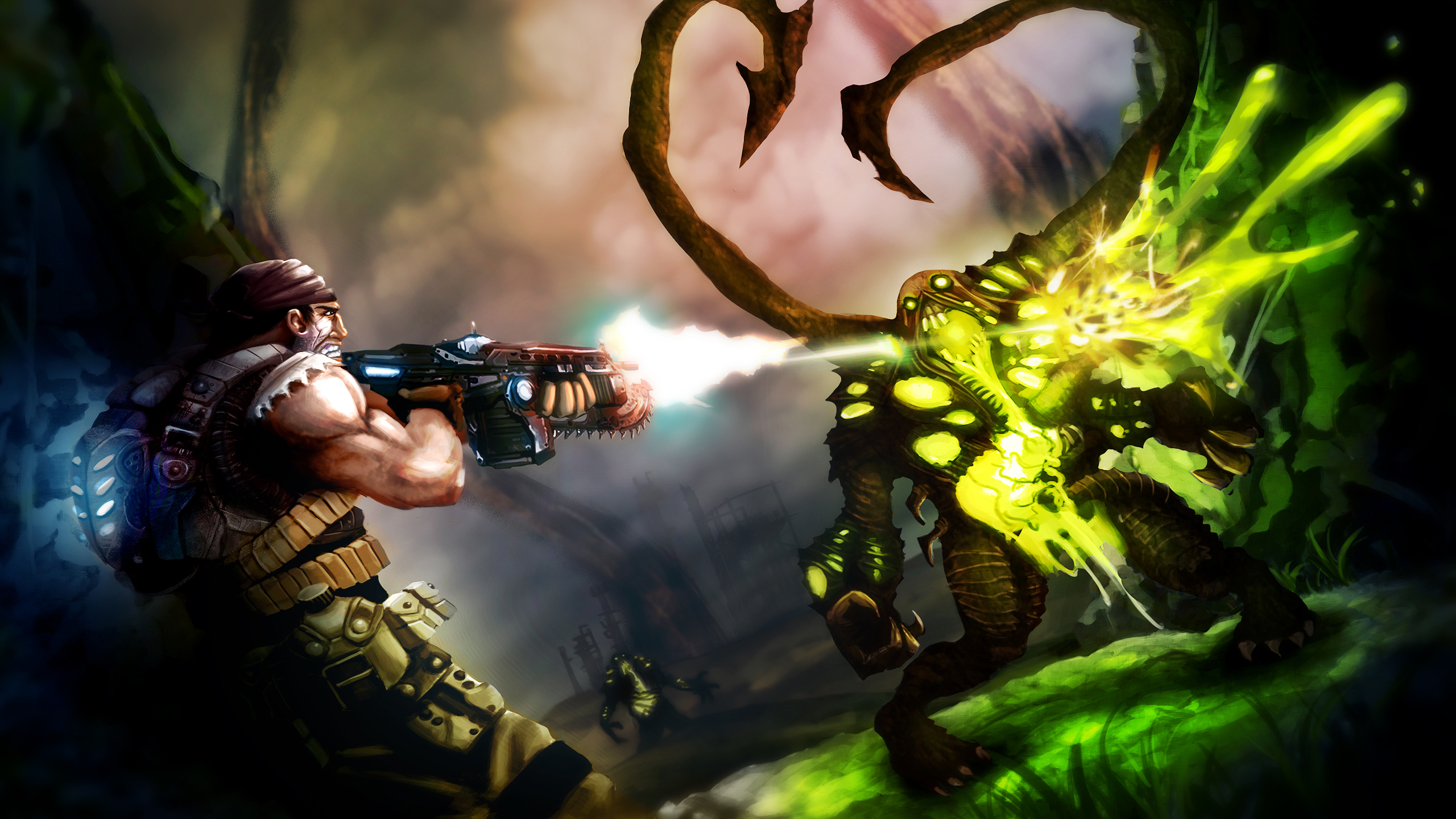 Gears of War 3 Entry by derekblairart