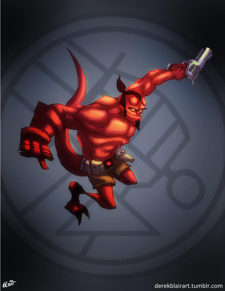 Hellboy by derekblairart
