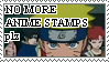 NO MORE ANIME STAMPS -stamp by deutschschaferhund