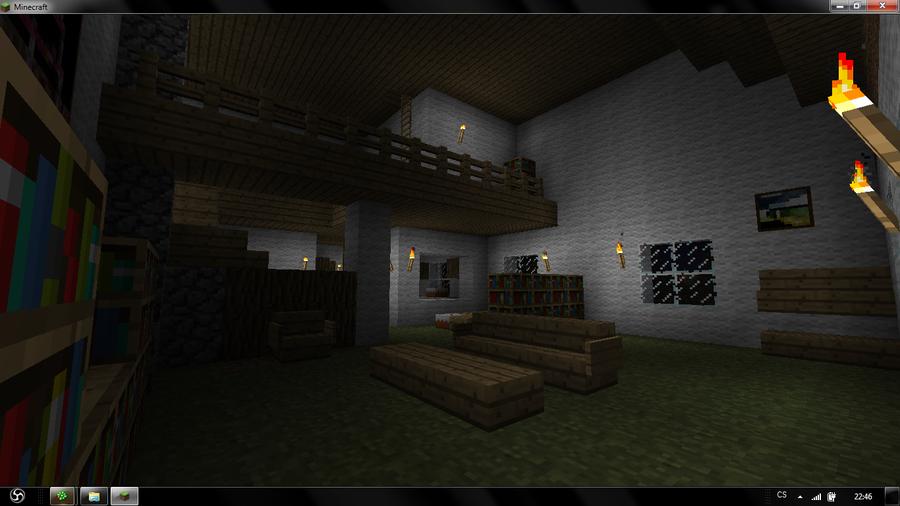 Minecraft living room by arnhem919 on deviantart for Living room minecraft