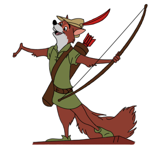 how to draw robin hood disney