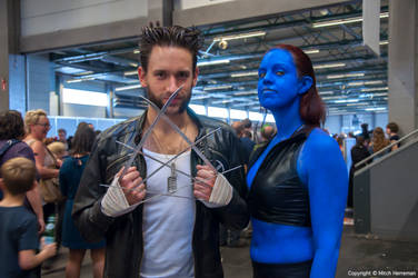 Wolverine and Mystique at FACTS 2014