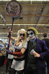 Joker and Harley Quinn at FACTS 2015 by KillingRaptor