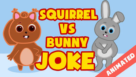 Squirrel vs bunny by JanR90
