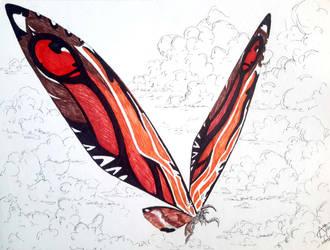 Titanus Mosura-Mothra by LADAlbarran2000