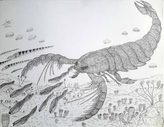 Megalograptus hunting by LADAlbarran2000