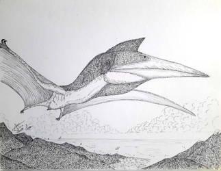 Quetzalcoatlus by LADAlbarran2000