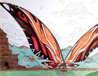 Mothra by LADAlbarran2000