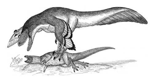 Deinonychus by LADAlbarran2000