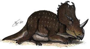 Centrosaurus with malignant cancer