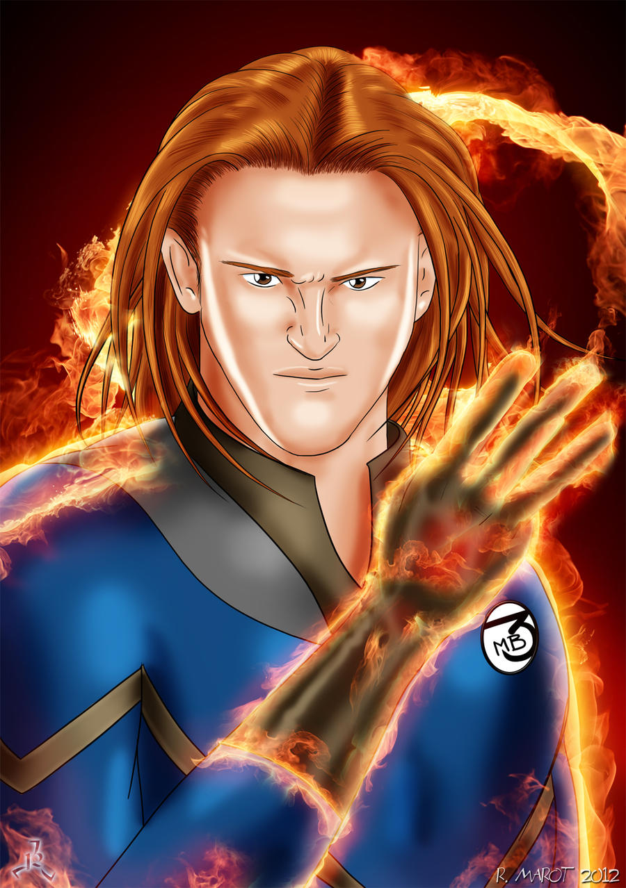 Heath Slater - Human Torch by Roselyne777