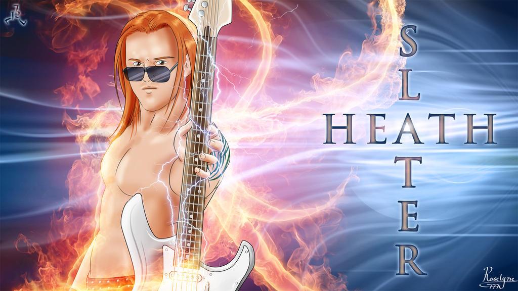 Heath Slater on Fire by Roselyne777