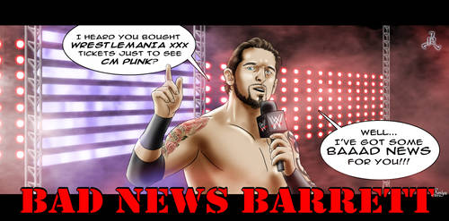 BAD NEWS BARRETT - CM Punk by Roselyne777