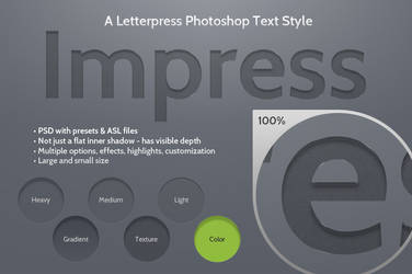 Impress Letterpress Photoshop Text Style