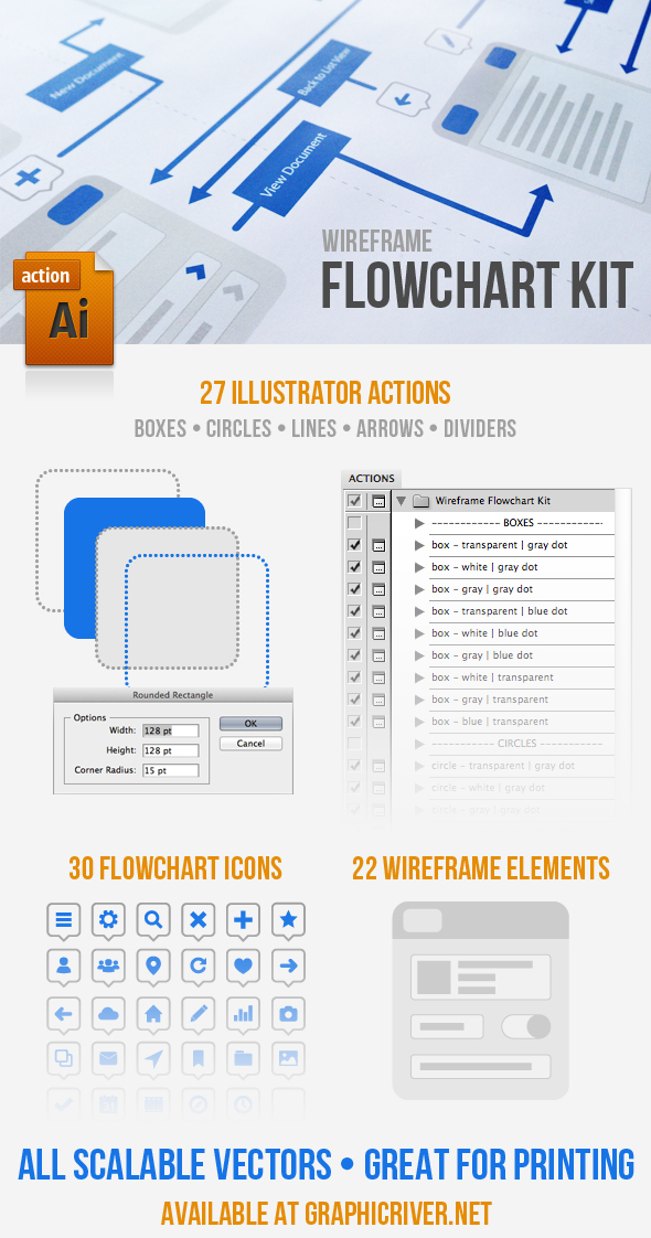 wireframe flowchart kit by kevinhamil on deviantart. Black Bedroom Furniture Sets. Home Design Ideas