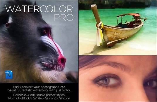 Watercolor Color Action Set