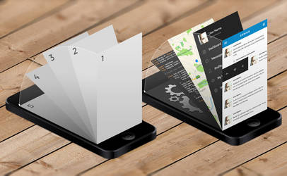 iPhone App Mock-Up Templates