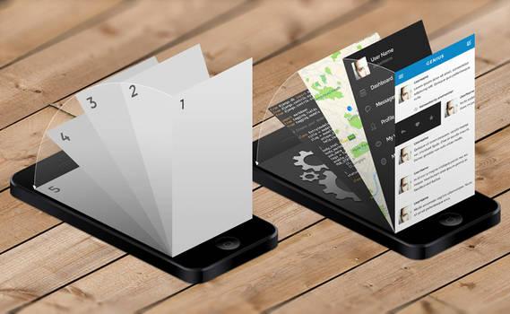 iPhone App Mock-Up Templates