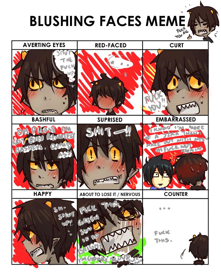 karkat blushing meme by R-25