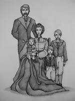 Portrait of the Dumbledores by jenimal