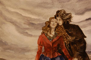 Cathy and Heathcliff detail by jenimal