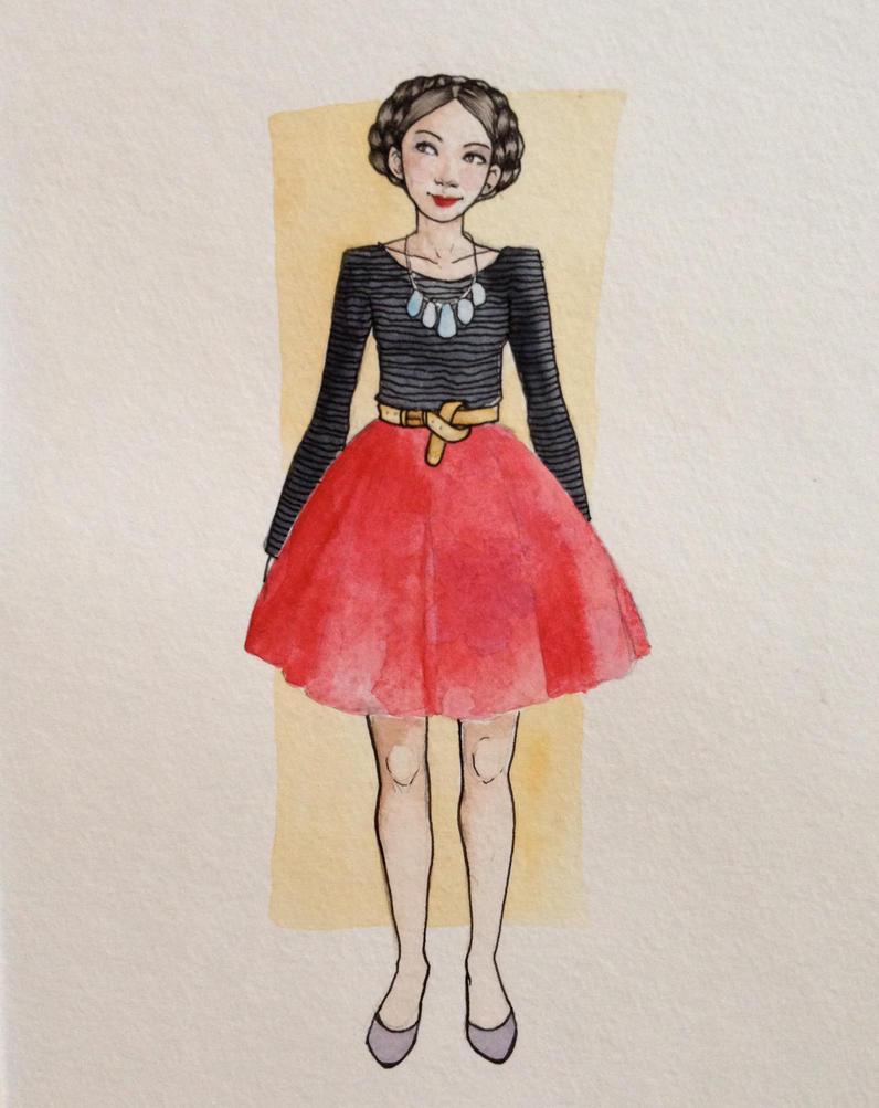 fashion illustration #1 by jenimal