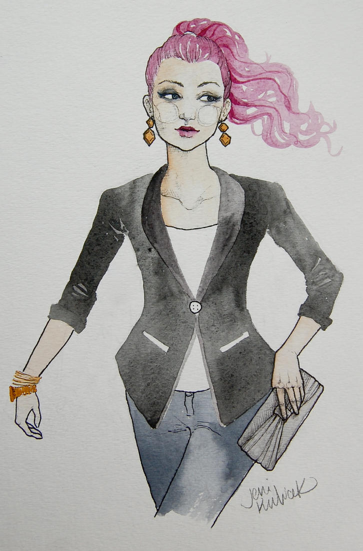 fashion illustration #2 by jenimal