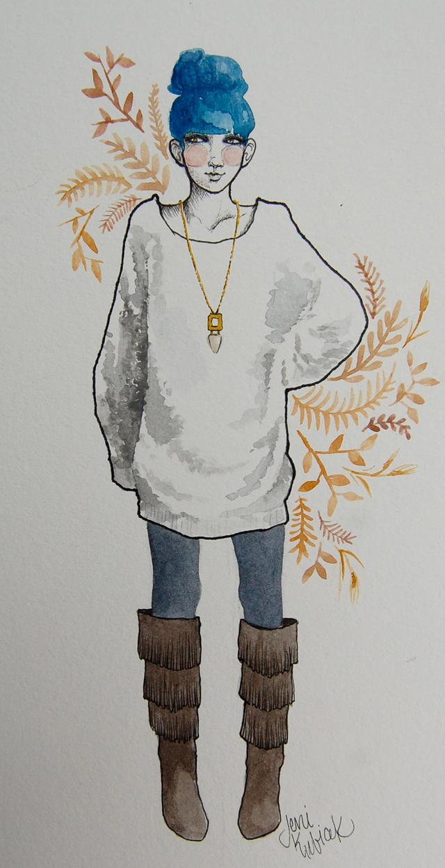 fashion illustration #3 by jenimal
