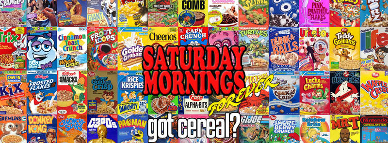 SATURDAY MORNINGS FOREVER: GOT CEREAL? by WOLVERINE25TH