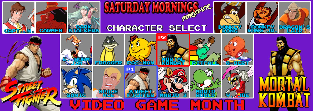 SATURDAY MORNINGS FOREVER: VIDEO GAMES SF AND MK by WOLVERINE25TH