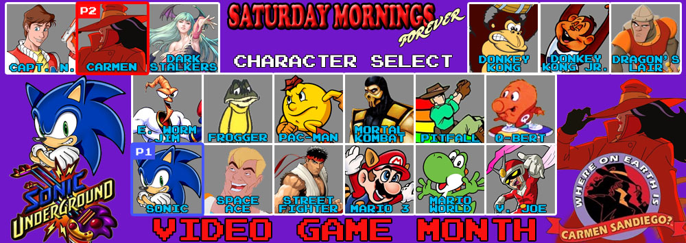 SATURDAY MORNINGS FOREVER: VIDEO GAMES SU AND CS by WOLVERINE25TH