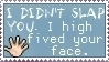 Face High Five Stamp by KiDaDaDa