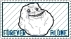 Forever Alone Stamp by KiDaDaDa