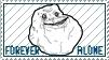 Forever Alone Stamp by KiDaDaDa