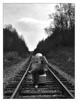 A Chair and The Tracks by BuckNut
