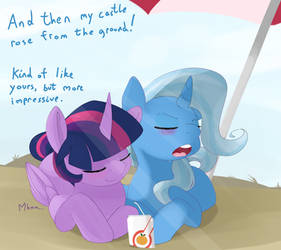 A Great and Powerful day at the beach by Kryptchild