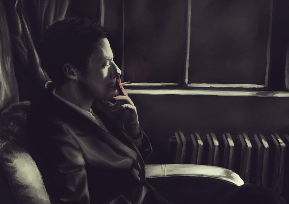 Smoking Man By Nativezero
