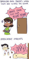Immigrant Parents by Beartie