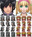 Suzi and Drake... (RPG Maker Sprites)