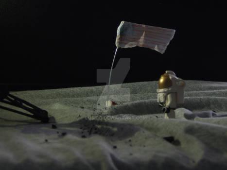 Aldrin over the moon.