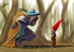 El arquero de las nueve estrellas/Fenrir y el Gnom