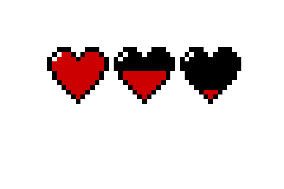 8 bit hearts by insanitysammyy on deviantart